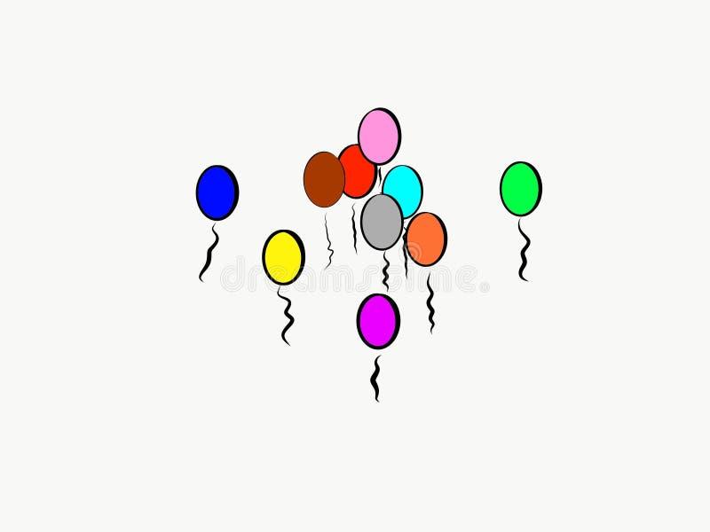 劫掠的五颜六色的气球宴会  皇族释放例证