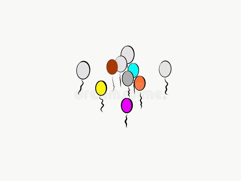 劫掠的卵形气球宴会  向量例证