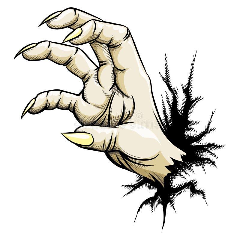 劫掠的手 向量例证