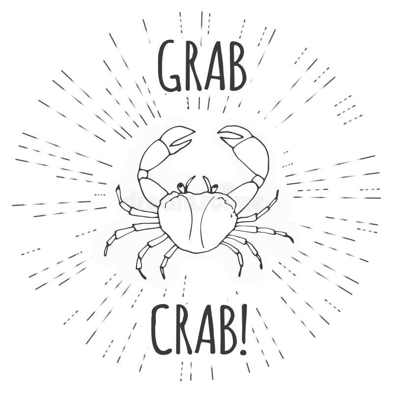 劫掠螃蟹,滑稽的传染媒介 库存例证