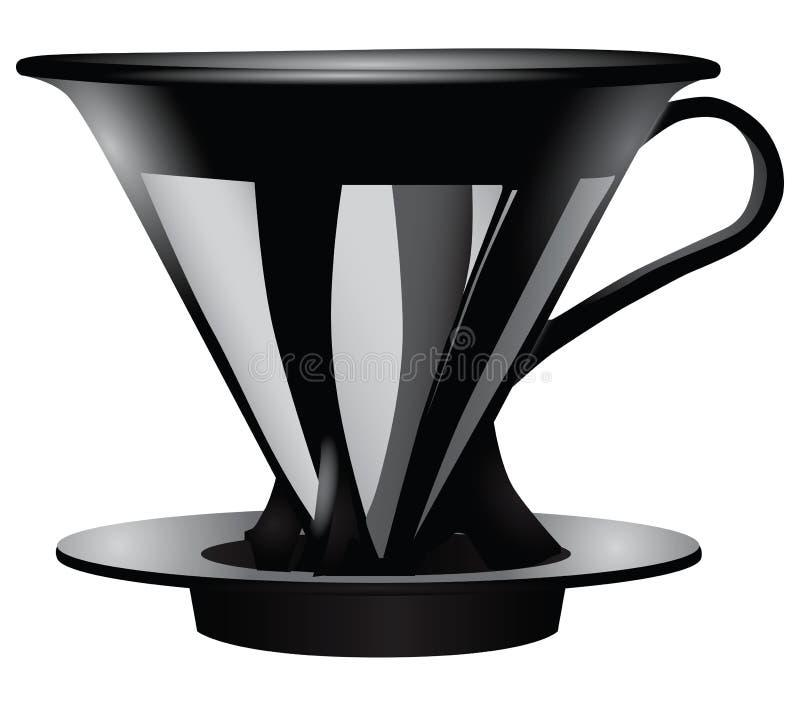 费劲的咖啡的漏斗 皇族释放例证