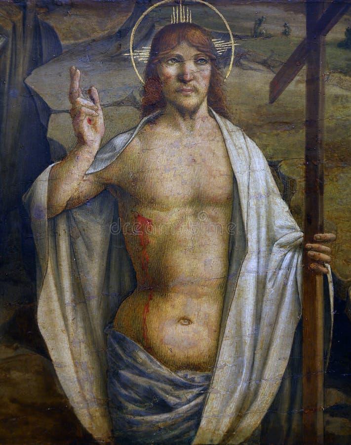 劳伦斯D亚历山德罗:上升的基督 免版税库存图片