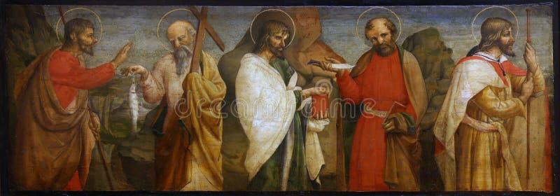 劳伦斯D `亚历山德罗:五位传道者 库存图片
