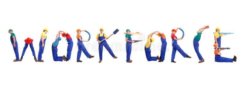 劳动力 免版税库存照片