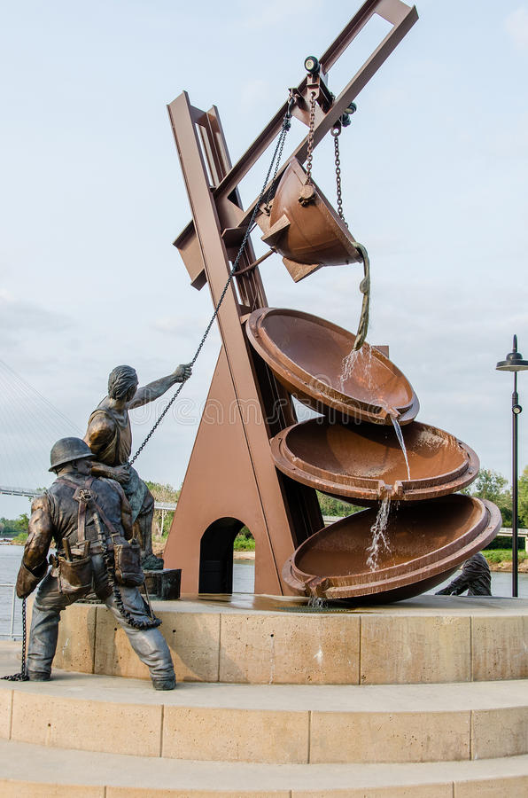 劳动的纪念碑 免版税库存照片