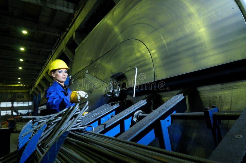 劳动者机械工作 库存照片