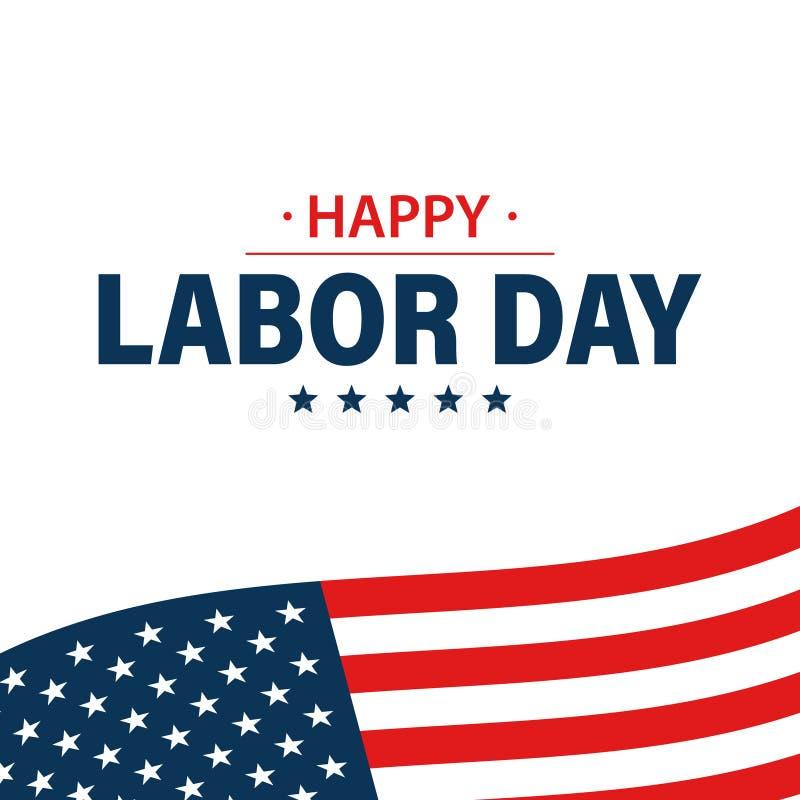 劳动节假日横幅 E 美国旗子 ?? 工作,工作 r 向量例证