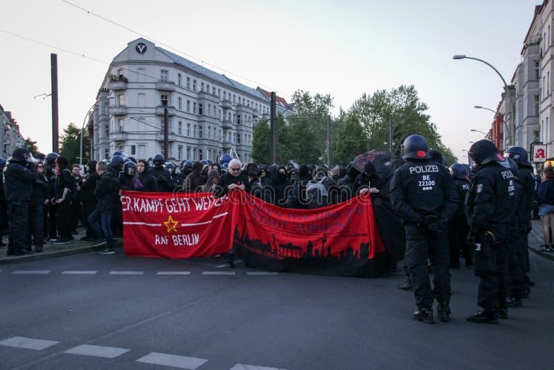 劳动节2019年在柏林,德国 免版税库存照片