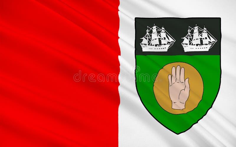 劳斯郡旗子在爱尔兰 皇族释放例证
