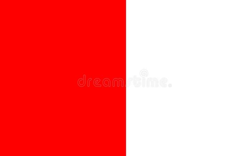 劳斯郡旗子在爱尔兰 库存例证