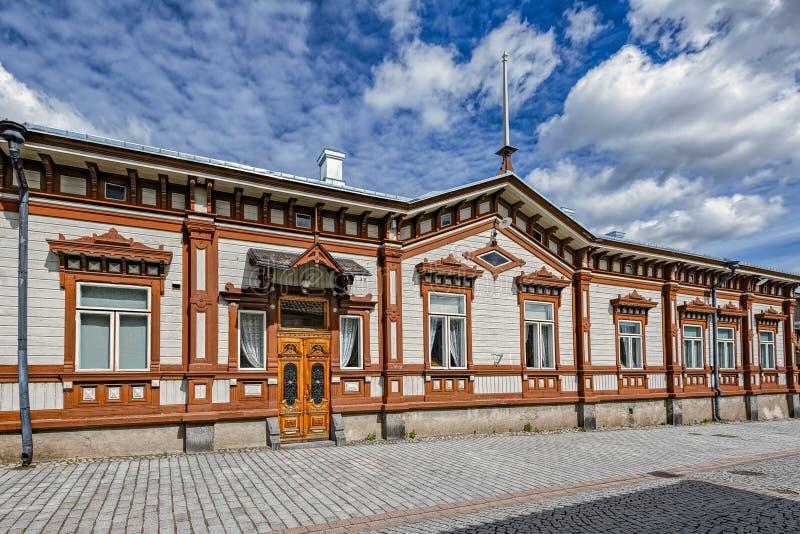 劳马,芬兰老镇  图库摄影