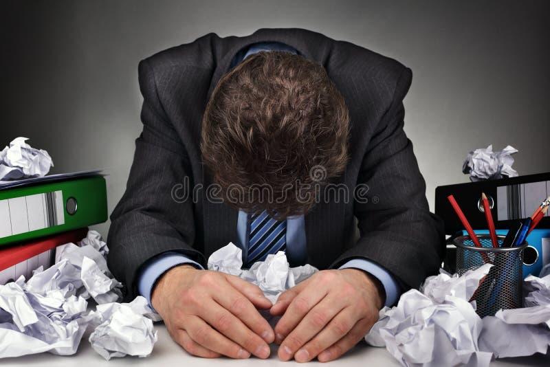 劳累过度或作家块 免版税库存照片
