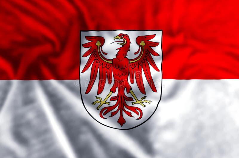 勃兰登堡德国旗子例证 库存例证