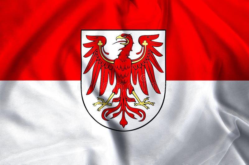 勃兰登堡德国旗子例证 向量例证
