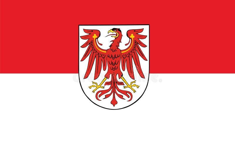 勃兰登堡状态传染媒介旗子在德国 皇族释放例证