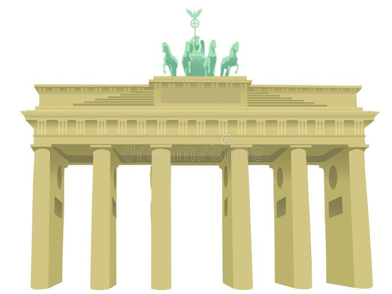 勃兰登堡门 向量例证