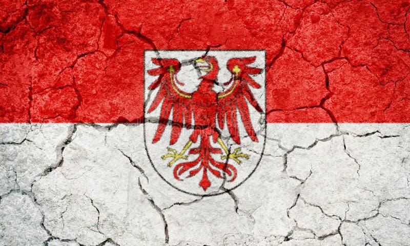 勃兰登堡,国家的德国,旗子 皇族释放例证