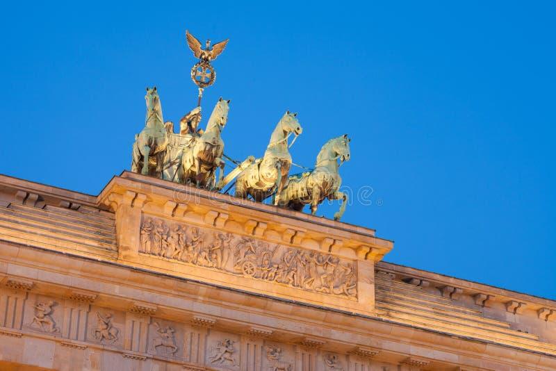 勃兰登堡门(Brandenburger突岩) 库存照片
