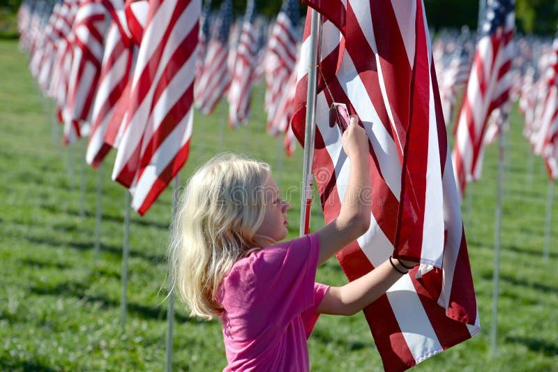 勇气旗子圣路易美术馆外 库存图片