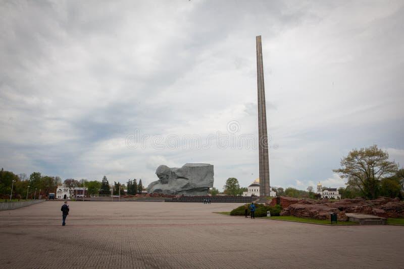 勇气Muzhestvo纪念碑在布雷斯特堡垒,布雷斯特市,白俄罗斯 免版税库存图片