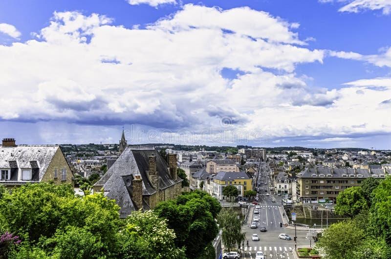 勒芒,法国全景  库存照片