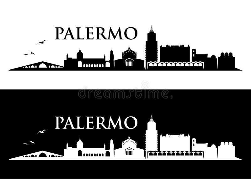 巴勒莫地平线-西西里岛,意大利-导航例证 向量例证