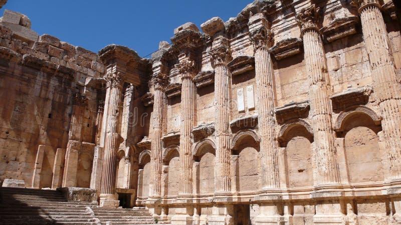 巴勒贝克废墟。黎巴嫩 免版税图库摄影