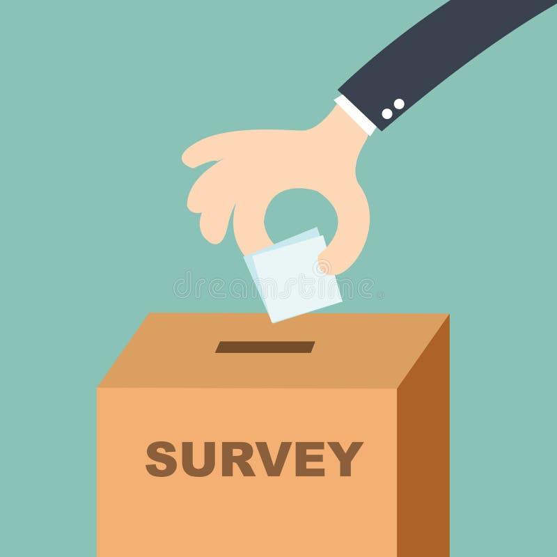 勘测概念-递投入选票在投票箱 皇族释放例证