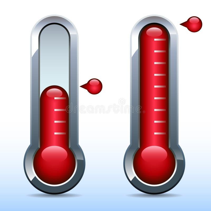 募捐人目标温度计 库存例证