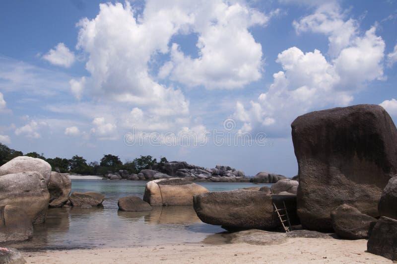 勿里洞岛海滩 免版税图库摄影