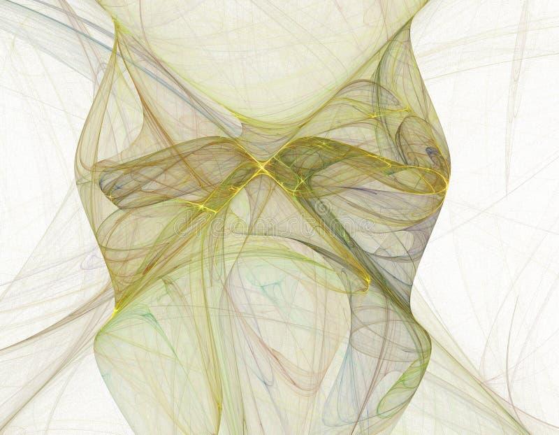 匀称抽象的分数维 向量例证