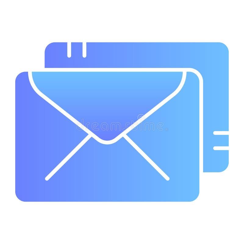 包围平的象 邮件在时髦平的样式的颜色象 岗位梯度样式设计,设计为网和应用程序 10 eps 皇族释放例证