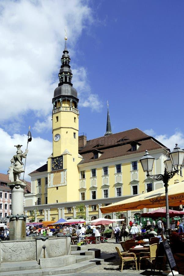 包岑城镇厅在德国 库存图片