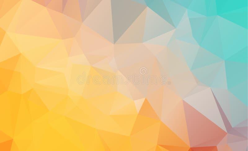 包括三角的低多几何背景 皇族释放例证