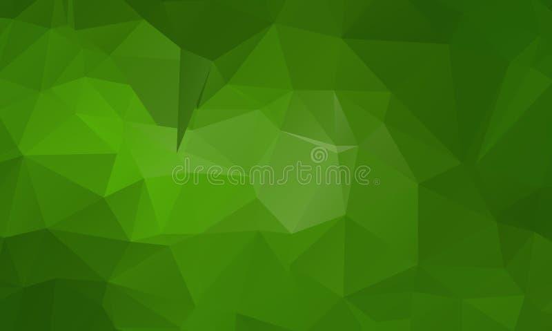 包括三角的抽象绿色 几何的背景 向量例证