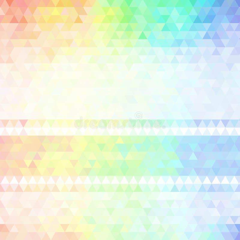 包括三角的抽象背景 10 eps 库存例证