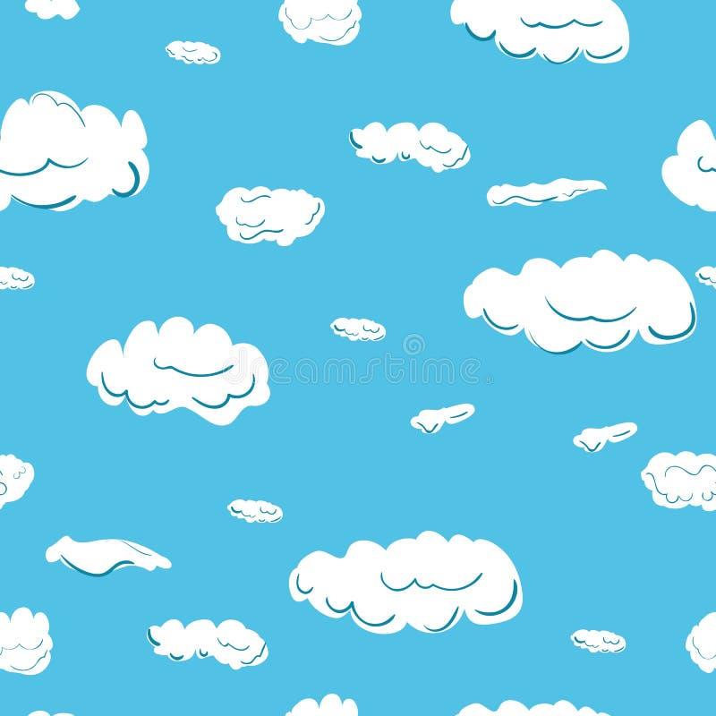 包括云彩的无缝的样式 免版税库存图片