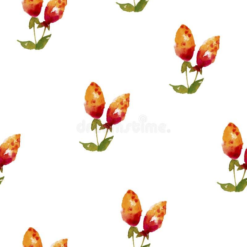 包括成熟莓果的无缝的水彩背景 向量例证