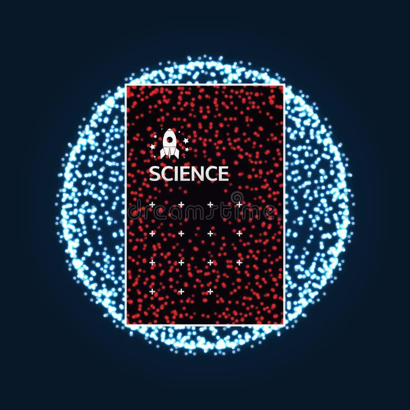 包括点的球形 全球性数字式连接 抽象网格 Wireframe例证 3D技术样式 向量例证