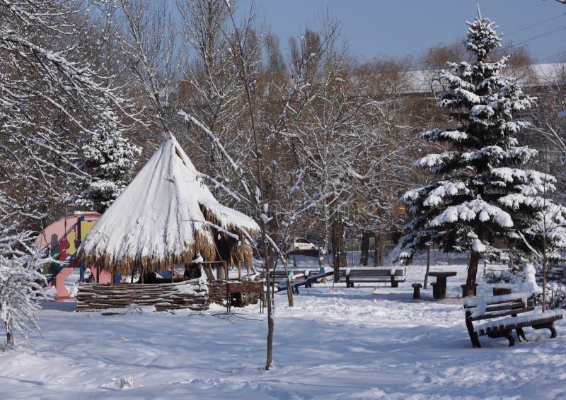 包括的公园雪 免版税库存照片