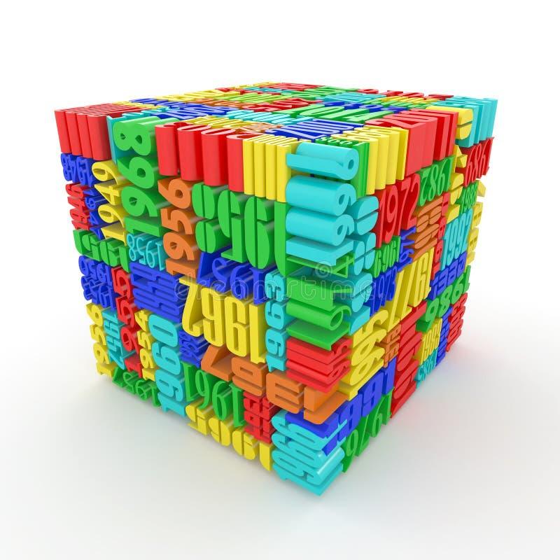 包括的多维数据集计算几年 库存例证