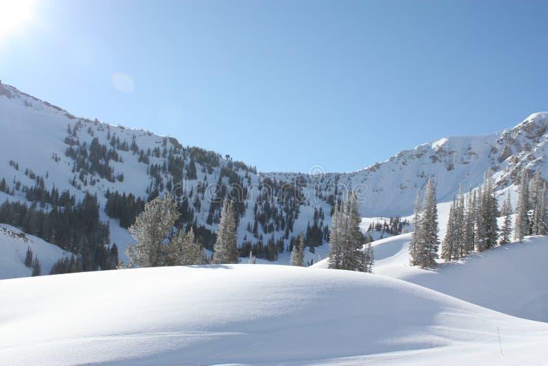包括的小山雪 图库摄影