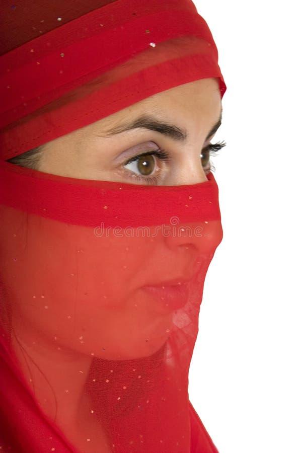 包括的方巾红色妇女 库存图片