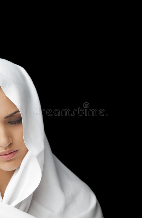 包括的表面女性半面纱 库存照片