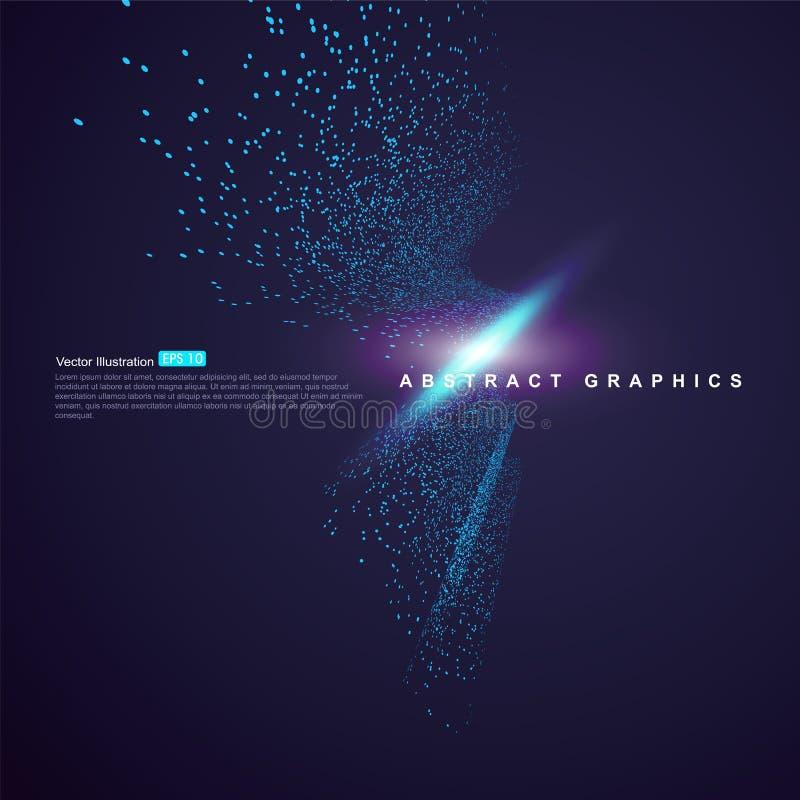 包括蓝色微粒抽象背景,技术感觉例证 皇族释放例证