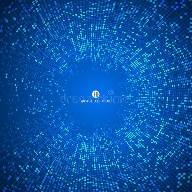包括蓝色微粒抽象背景,技术感觉例证 向量例证