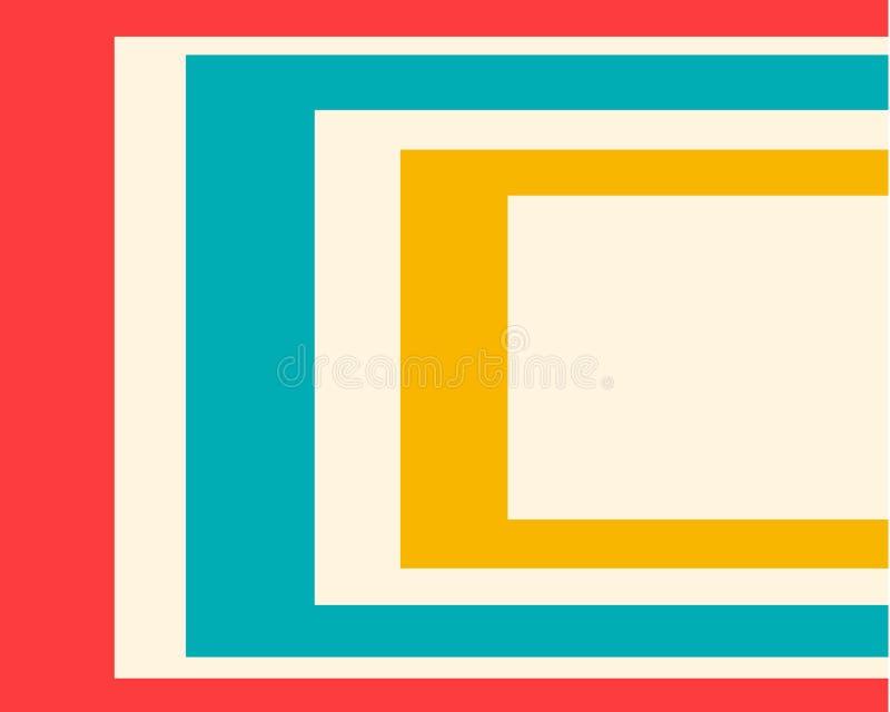 包括许多长方形的色的几何背景 库存例证