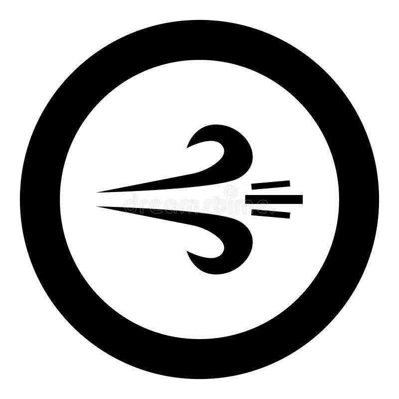 包缠在圈子的象黑颜色或圆 向量例证