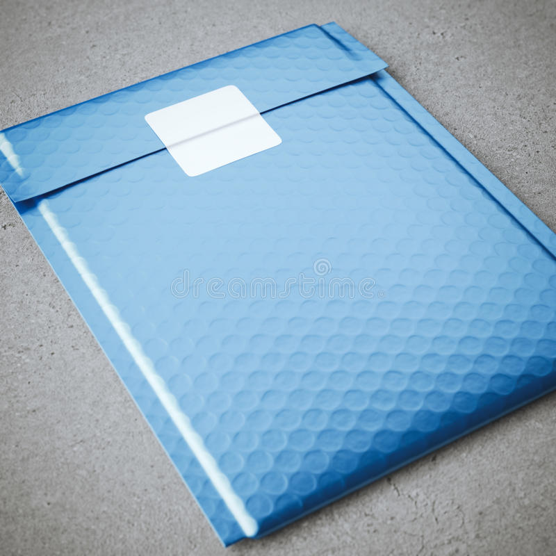 包装与贴纸的金属泡影袋子 免版税图库摄影