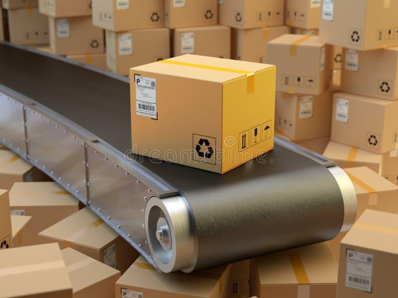 包装交付,包装的服务并且购买运输系统概念 皇族释放例证